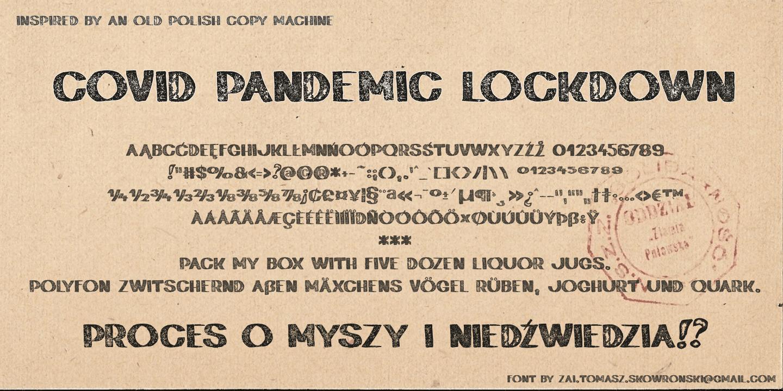 Covid Pandemic Lockdown Font