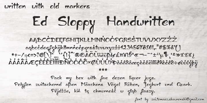 Ed Sloppy Handwritten Font