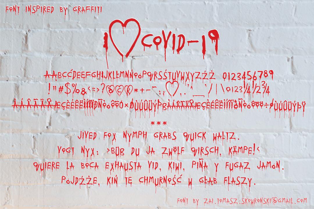 I♥Covid-19 Display Font