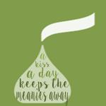 green kiss a day printable