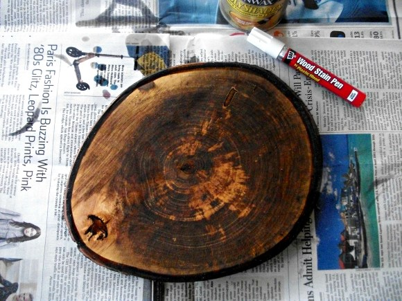 using stain