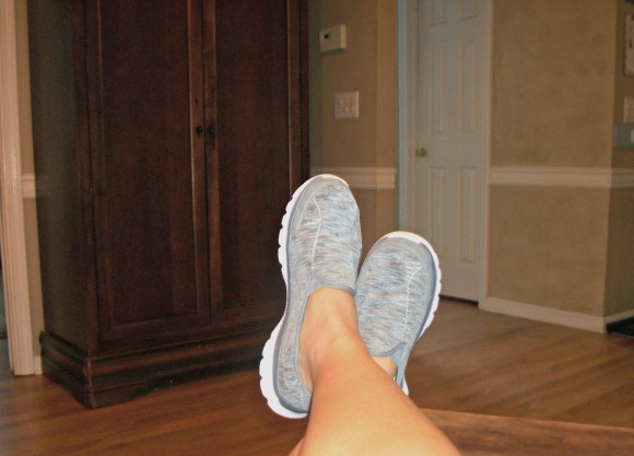 Gray Memory Foam shoes from Wal-Mart