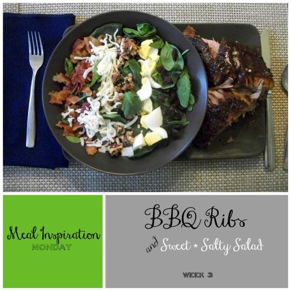 Monday Meal 3 - BBQ Ribs and Salad