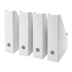 One of IKEA's BEST deals - cardboard magazine files FLUNS. Before3pm.com
