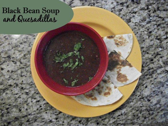 Meal Inspiration Monday: Black Bean Soup and Quesadillas. Before3pm.com