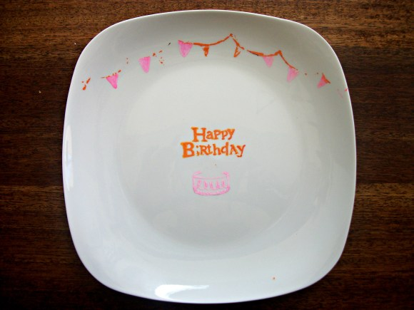 DIY Birthday Plate. Before3pm.com