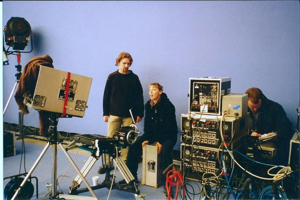 VFX Designer/Supervisor Dan Glass and VFX producer Rachael Penfold. Image courtesy Paddy Eason.