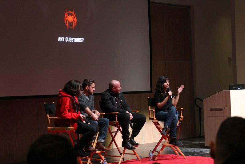 From right, Imageworks crew members Geeta Basantani, Joshua Beveridge and Humberto Rosa