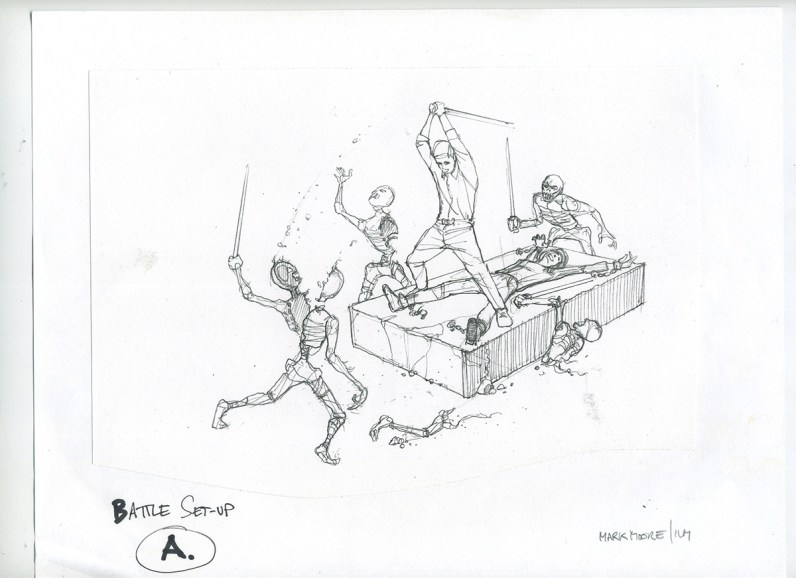 ILM concept for the soldier mummy fight