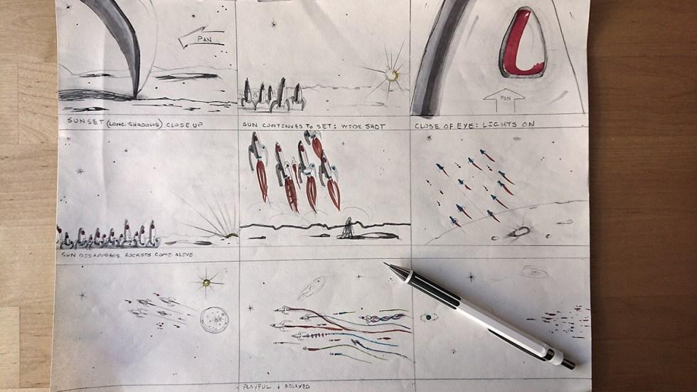 'Rocket Migration' storyboards.