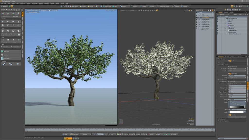 Tropism: the procedural Modo plugin for growing trees and…lightning bolts