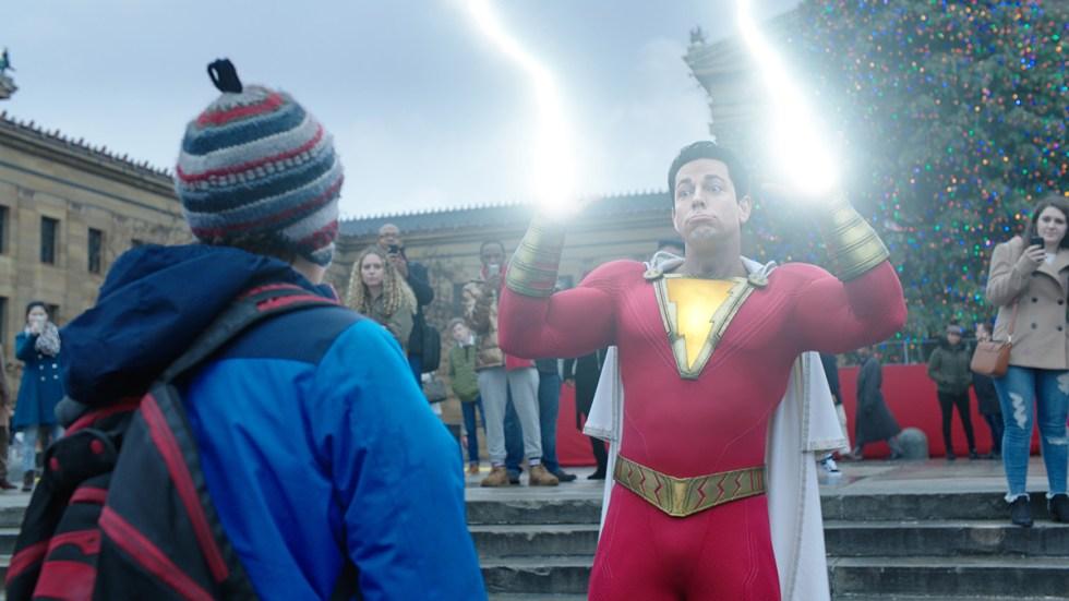 Shazam lighting hand