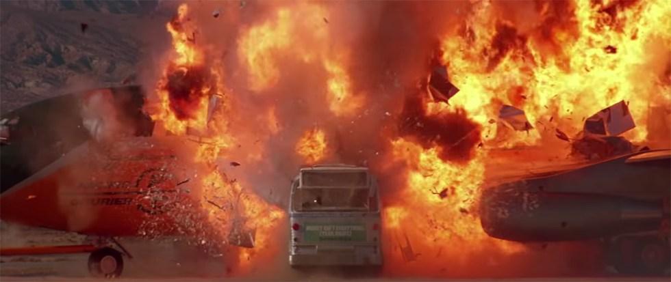 bus crashed airplaine