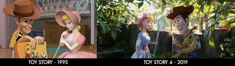 Comparing Bo Peep in 1995, and now