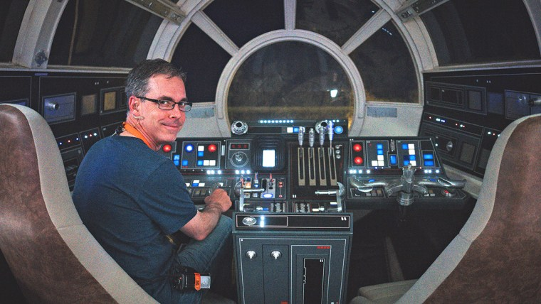 Rob Bredow on the set of the Millennium Falcon for 'Solo'