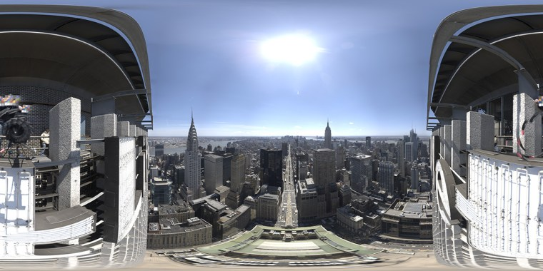 A panorama from ILM's previous 'Avengers' work