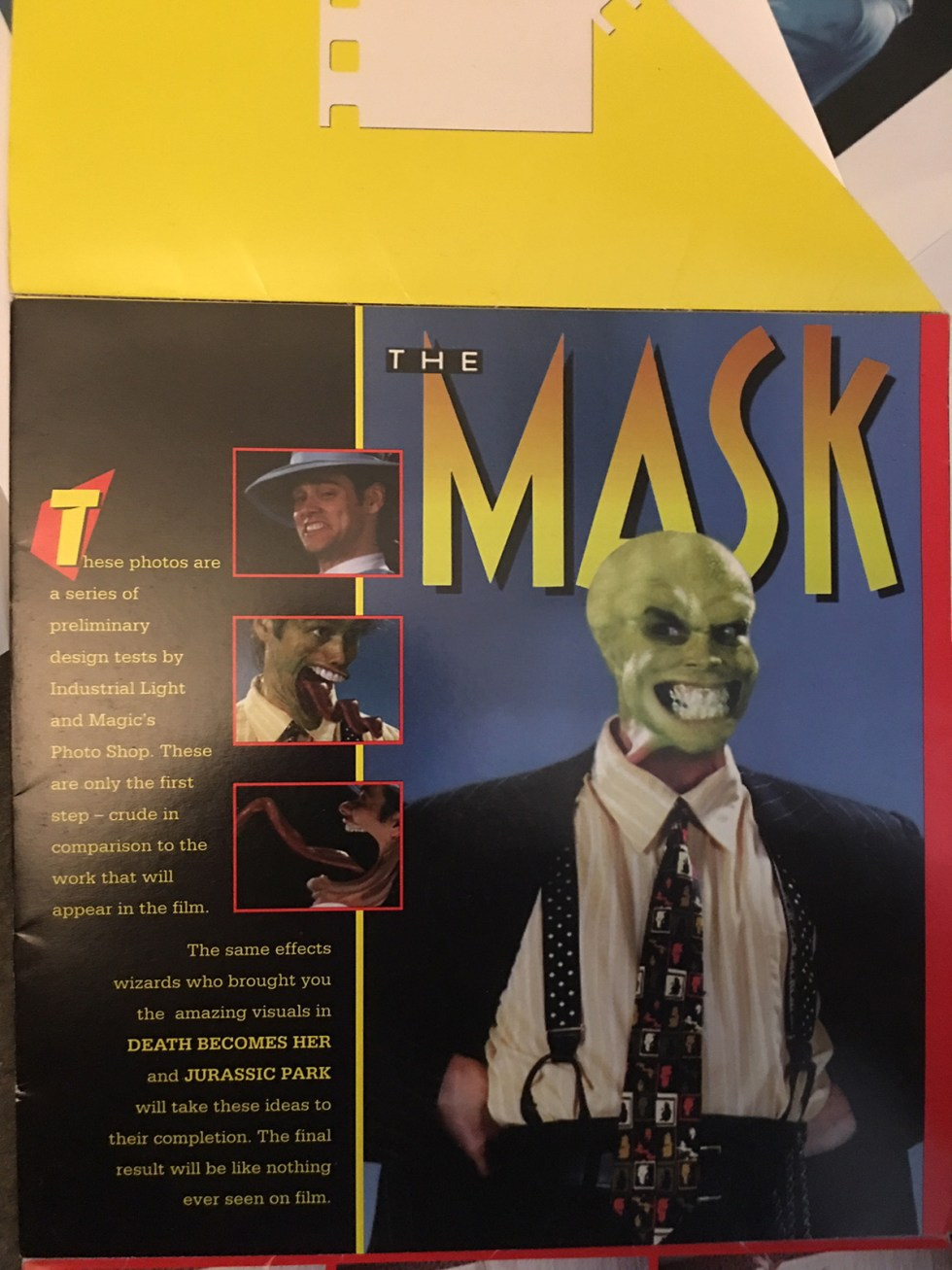 The Mask, with artwork by ILM