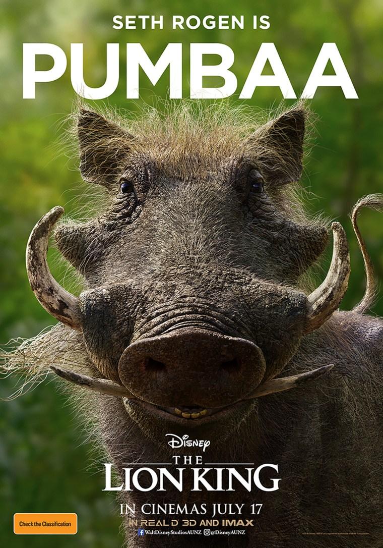 The Australian one-sheet for Pumbaa