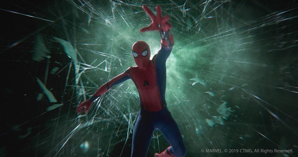 illusion battle spiderman falling