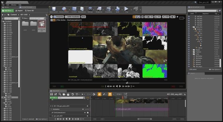 3D workflows interface