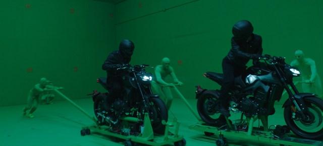 John Wick: Chapter 3 bike chase shooting