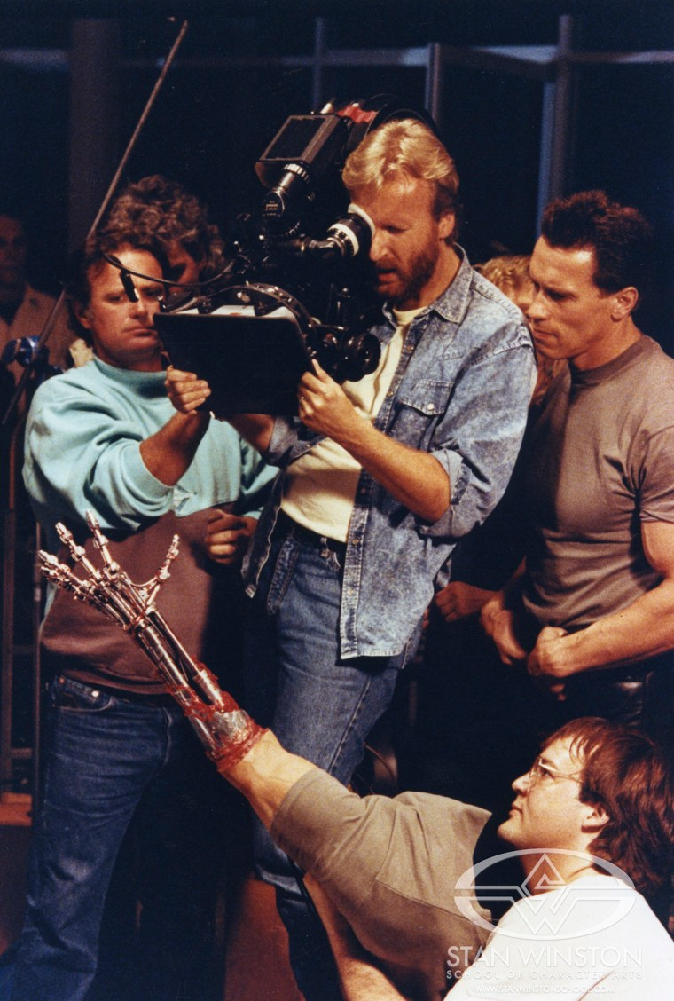 Filming a practical make-up effects scene
