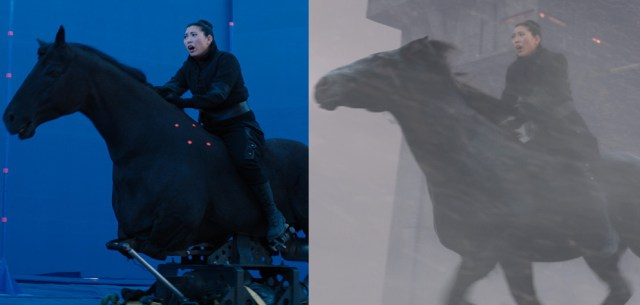 Flying horse in Jumanji: The Next Level
