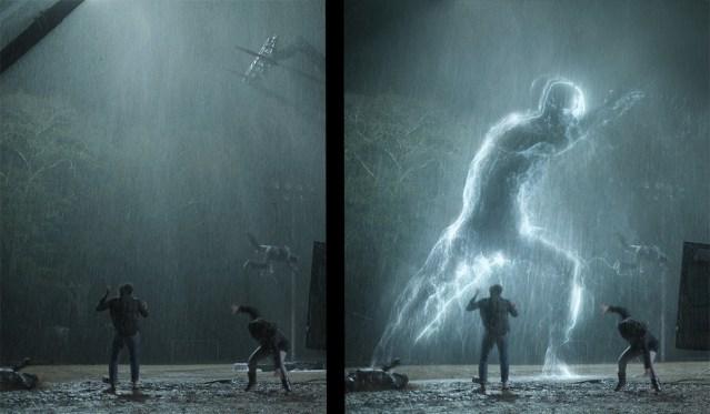 CG creature into practical rain plates