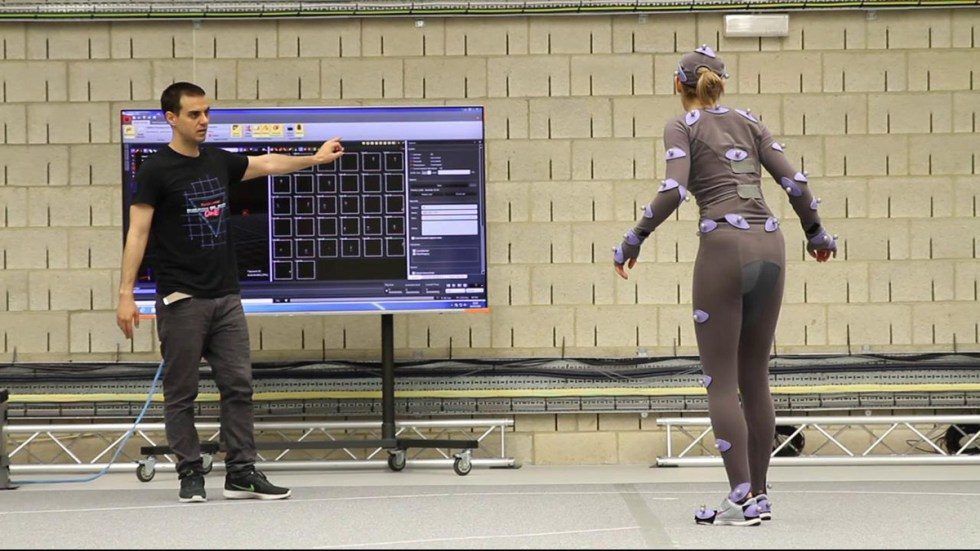 A mocap session for the film