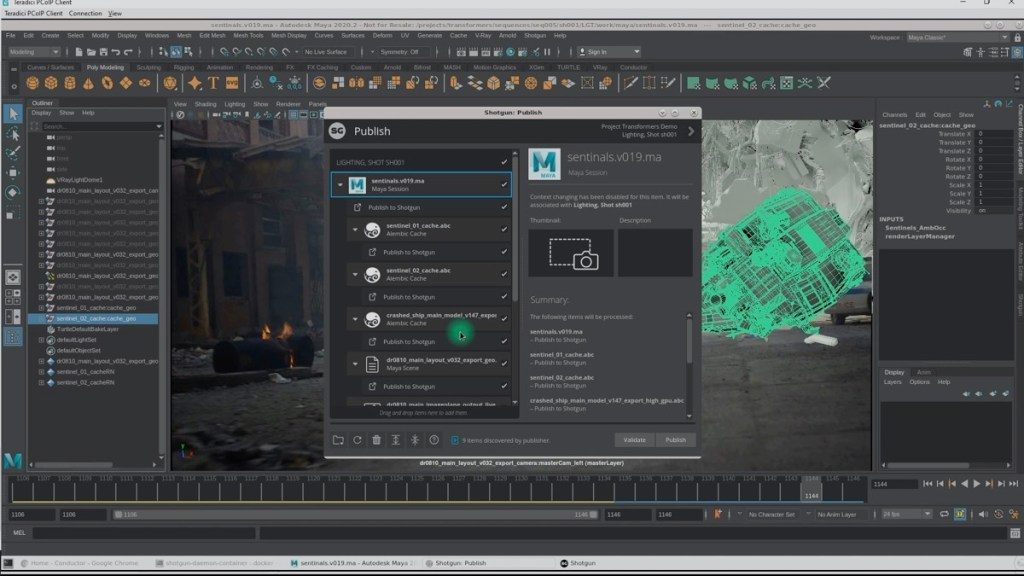How you can implement a VFX workflow completely in the cloud