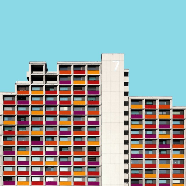 High-rise for students, Olympic Village, Munich by Günther Eckert. © Paul Eis