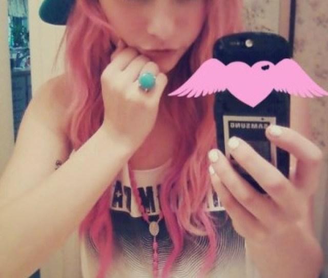 Rockin That Pink Hair Not Me Tumblr Girl