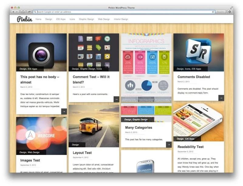 PINBIN Pinterest WordPress Theme