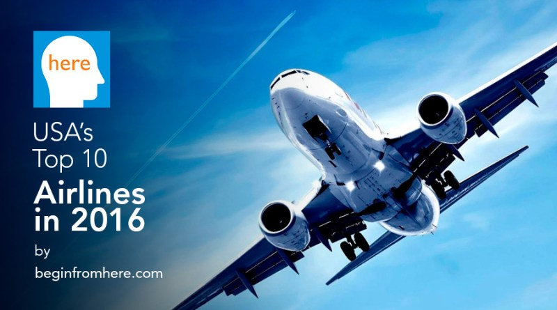 USA's Top 10 Airlines 2016