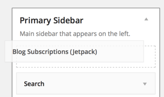 Jetpack Blog Subscriptions Widget