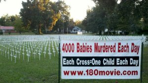 Church Displays 4,000 Crosses in Stance Against Abortion