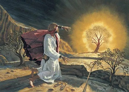 Moses at Burning Bush | Moses as Foreshadow of Jesus Christ