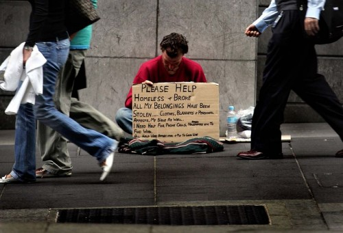 Homeless man ignored | Bible verses on giving to the poor