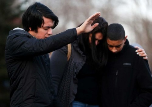 Sandy Hook School Shooting Prayer Circle | Why does God allow suffering?