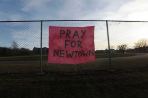 Sandy Hook School Shooting Prayer Sign | Why does God allow suffering?