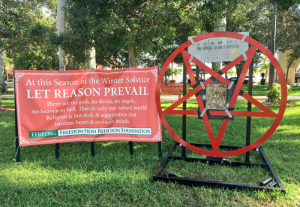 Florida Teacher Preston Smith Baphomet Statue | Freedom From Religion Foundation attacks on Christianity