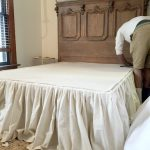 Diy No Sew Drop Cloth Bed Skirt