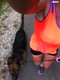 Runnerdog and Runnergirl Running