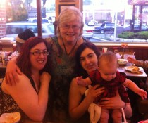 4 lovely ladies and a grand baby. Mothers Day