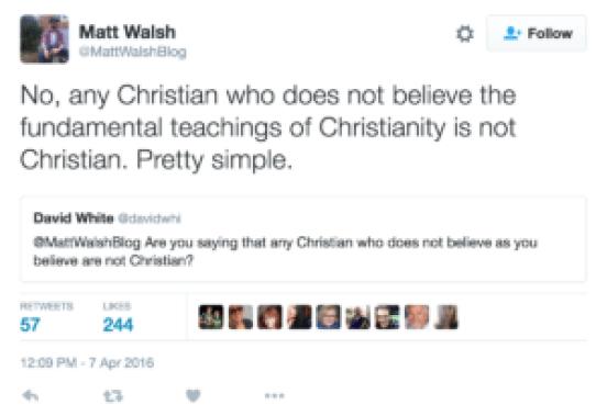Matt Walsh on Christians