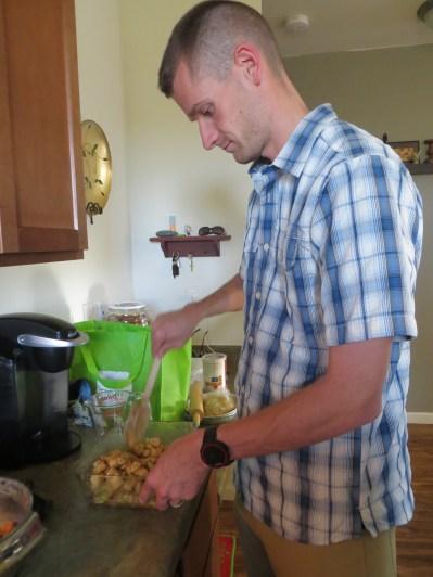 Making apple pies.