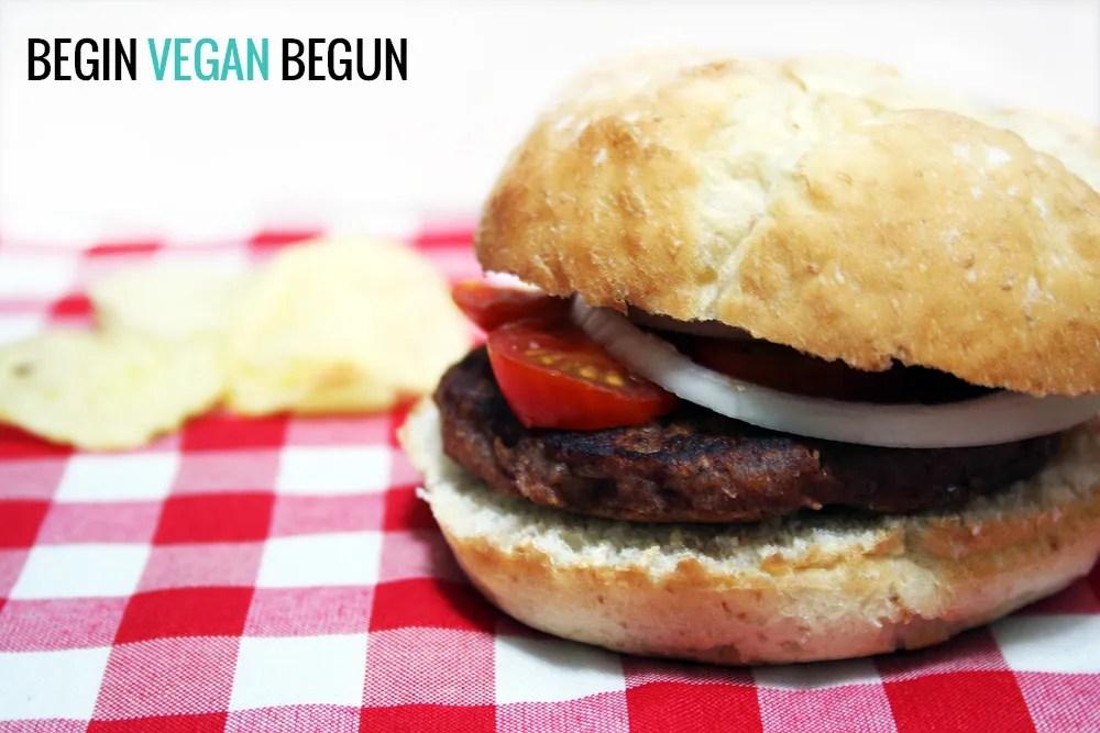 hamburguesa vegana alubias