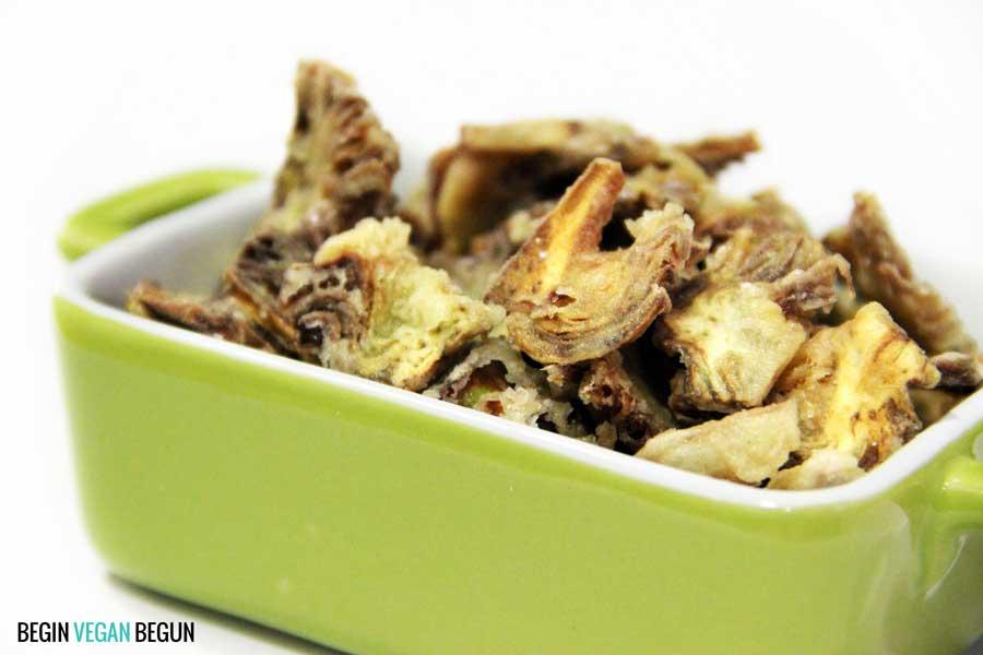 Chips de alcachofa