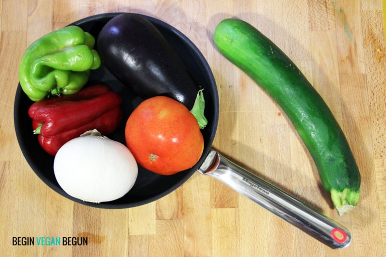 ingredientes ratatouille