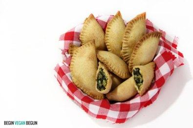 empanadillas veganas de espinacas